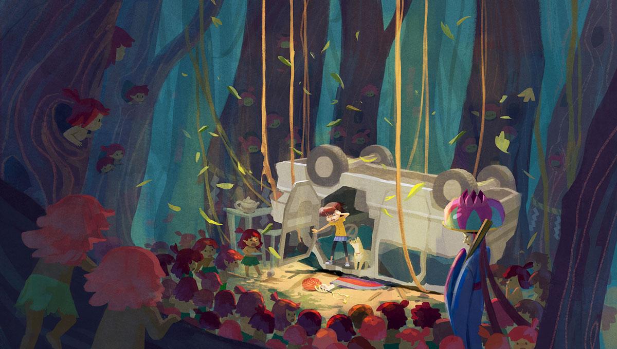 Nicole Lim crashed car illustration