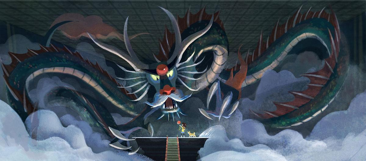 Nicole Lim dragon illustration