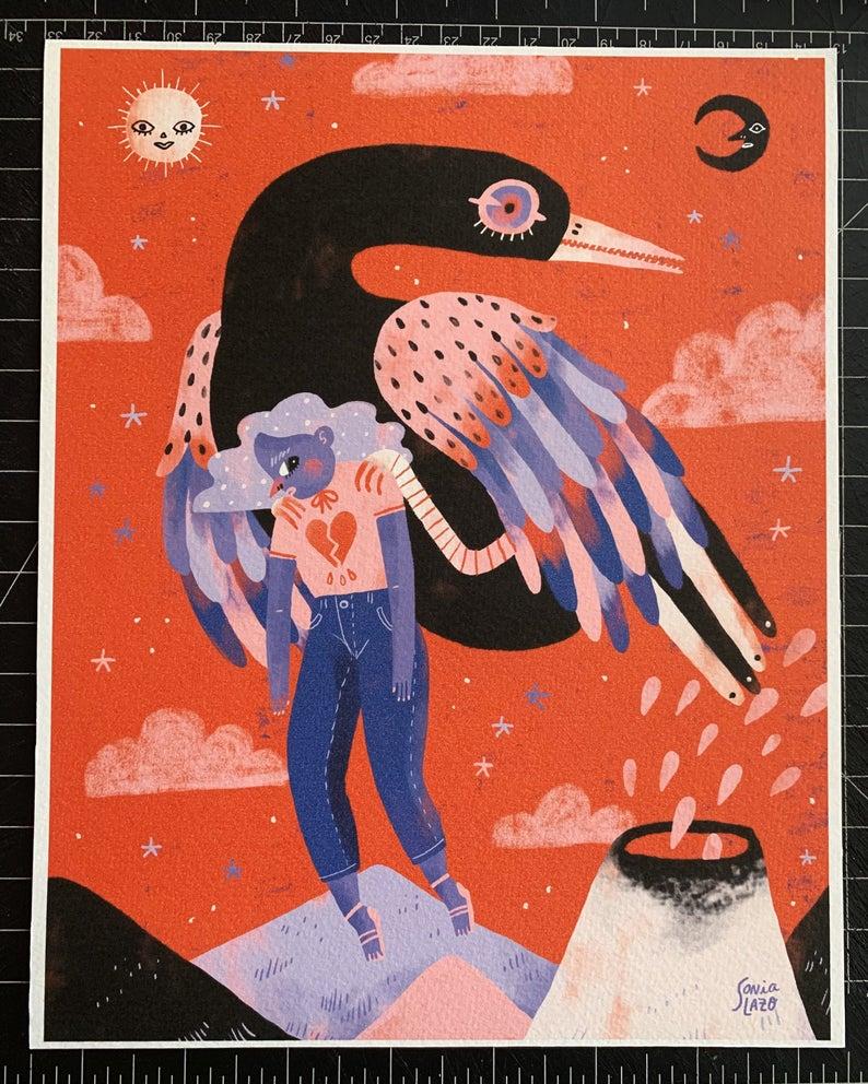 Sonia Lazo bird print