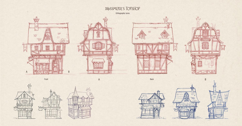 Toyshop illustration Process