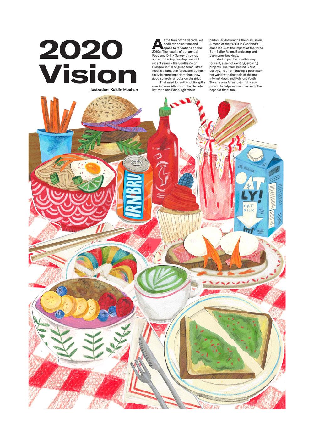 Kaitlin Mechan food illustration
