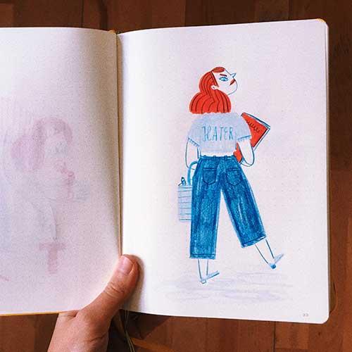 """""""The Artist Sketchbook"""" by Rachel Katstaller"""
