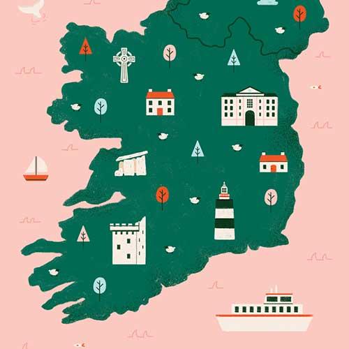 """Map of Ireland"" by Alana Keenan"