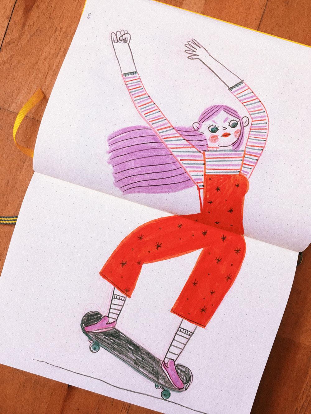 Rachel Katstaller girl drawing