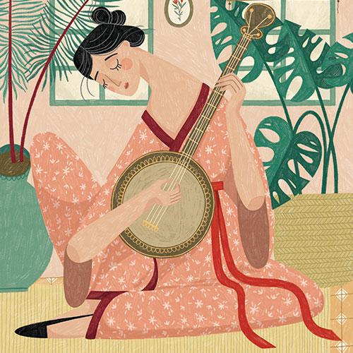 The Banjo Player by Alona Millgram