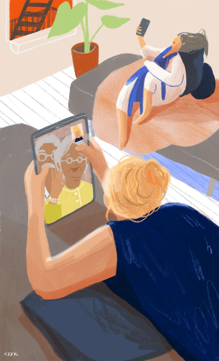 Facetime illustration Cindy Kang