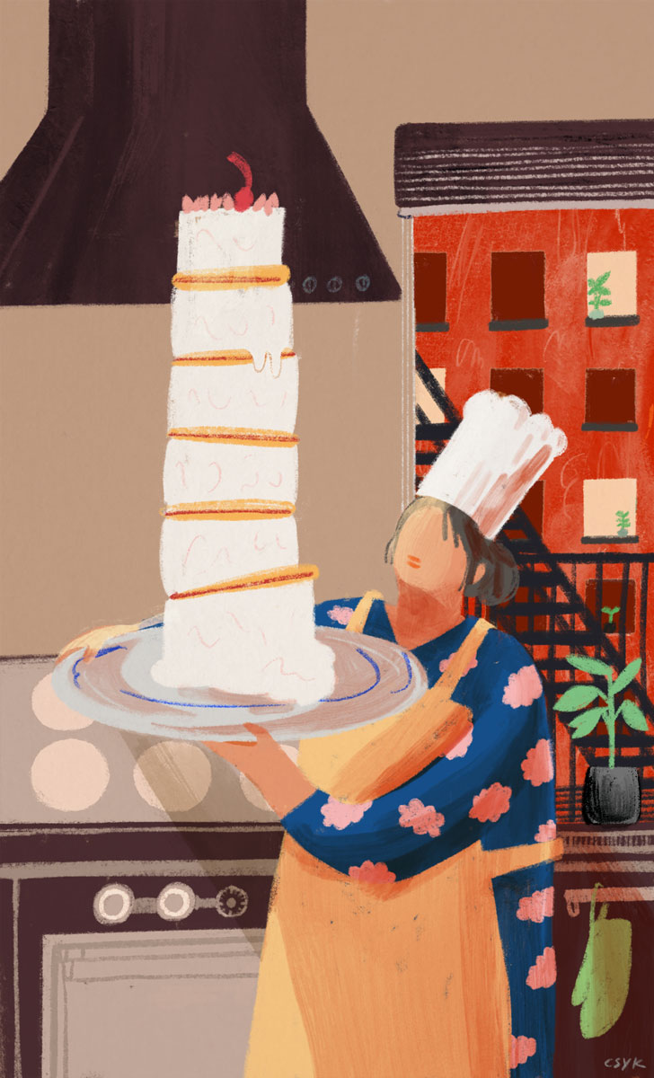 Home Cook illustration Cindy Kang