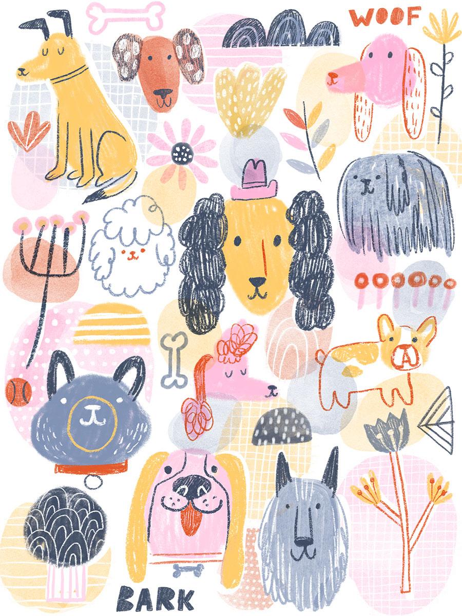 """""""Doodle Dogs"""" by Lauren Lowen"""