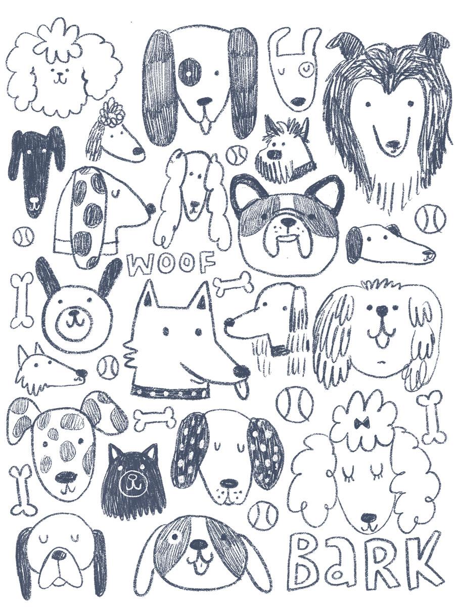 Doodle Dogs Sketch