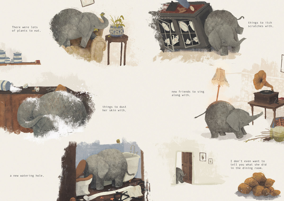 Ellan Rankin elephant illustration