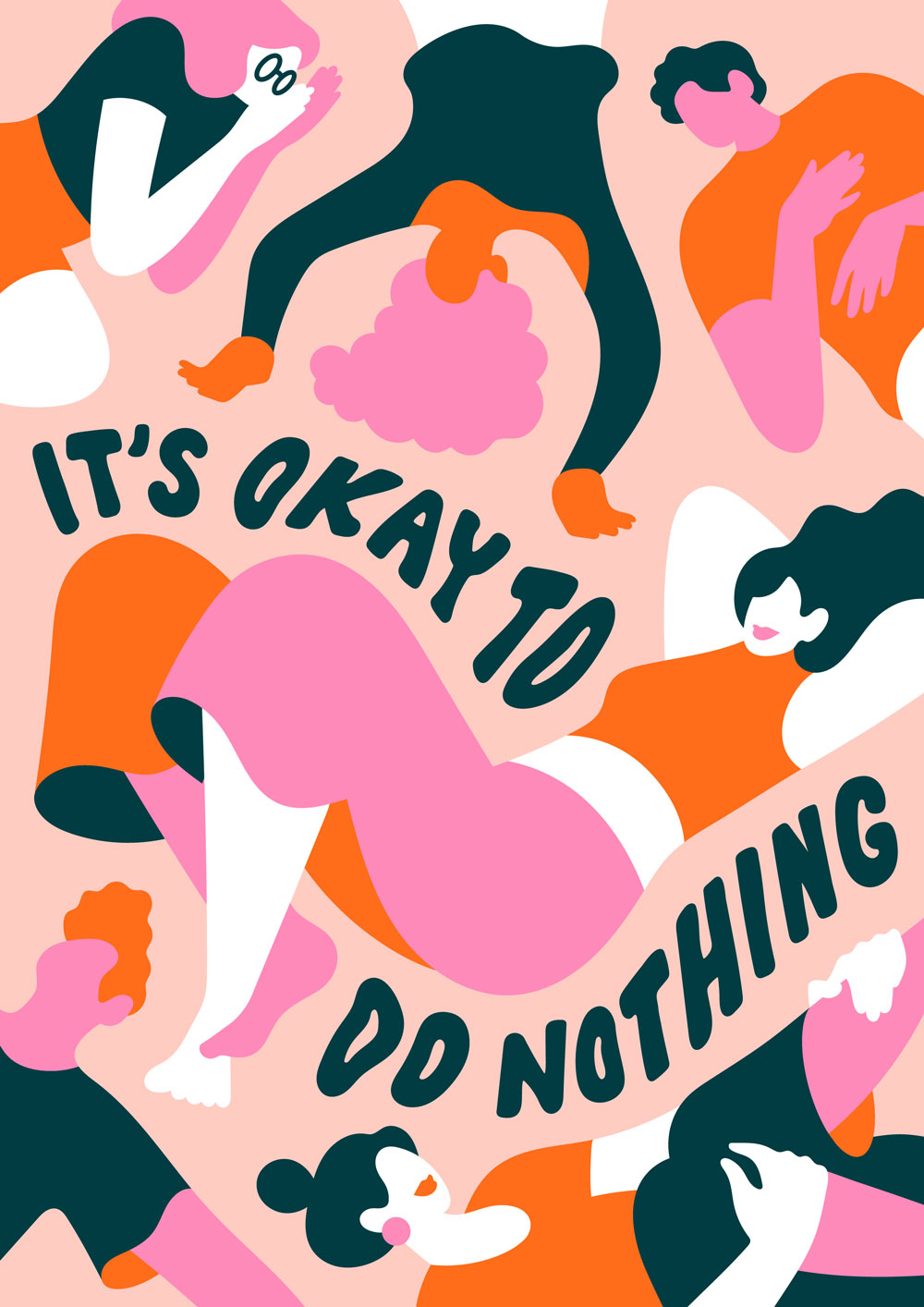 """It's Okay To Do Nothing"" illustration by Lisa Tegtmeier"
