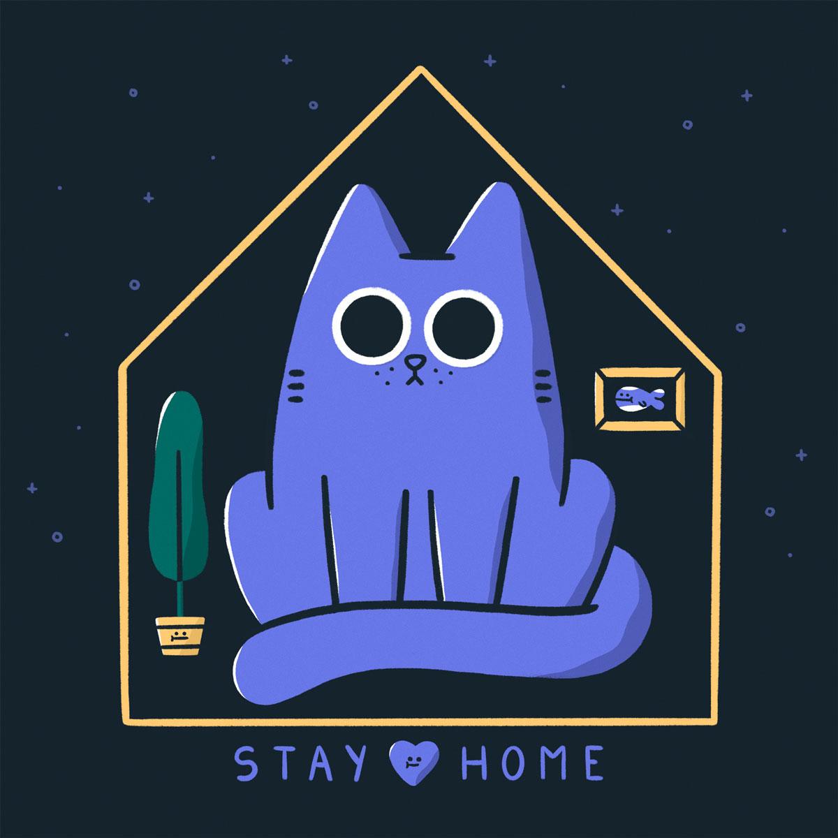 Elena González stay home illustration