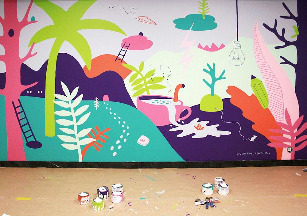 wall mural art Studio Äppel Päppel