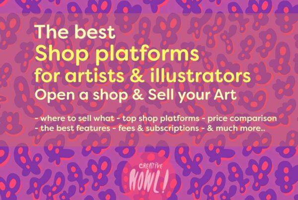 Shop platforms for Artists & Illustrators